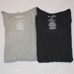 2 Old Navy Scoop Neck Long Sleeve T-Shirts Small